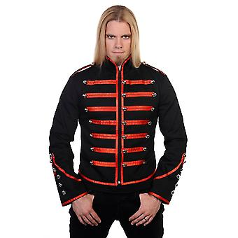 Banned Black & Red Military Drummer Jacket XXL