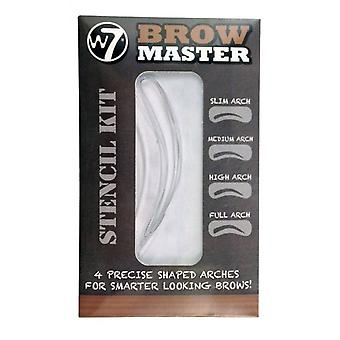 W7 Brow Master Stencil Kit Four Precise Shaped Arch Stencils