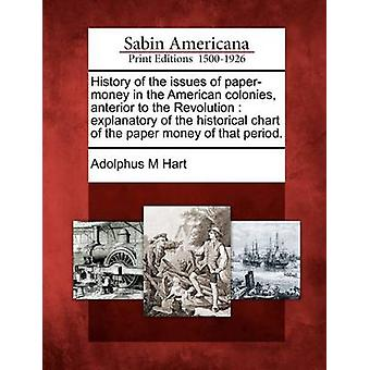 History of the issues of papermoney in the American colonies anterior to the Revolution  explanatory of the historical chart of the paper money of that period. by Hart & Adolphus M