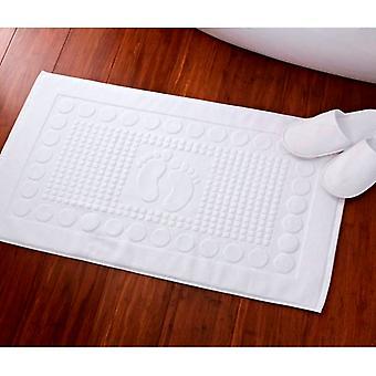 Glückliche Füße Baumwolle Badematte 1000gsm weiß