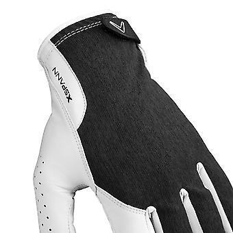Callaway Golf Mens 2019 X Spann MLH Compression Opti Fit Leather Golf Gloves