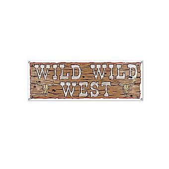 Wild Wild West tegn, banner