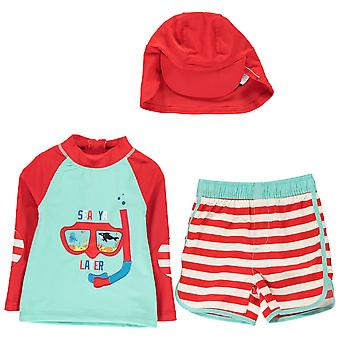 Crafted Boys 2 Piece Sun Safe Suit Child Short Sleeve Round Neck