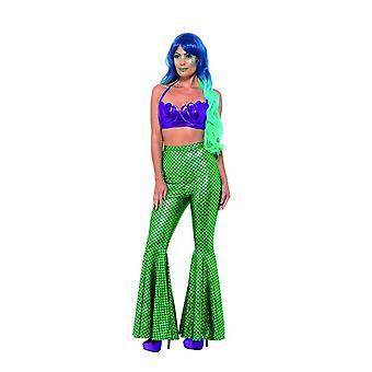 Mermaid Flared Trousers,Fancy Dress,UK Size 12-14