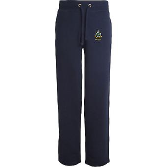 Sherwood Foresters Veteran - Licensed British Army Embroidered Open Hem Sweatpants / Jogging Bottoms