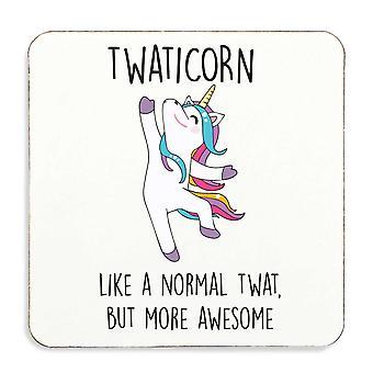 Twaticorn Tw*t Unicorn Coaster Cork Back