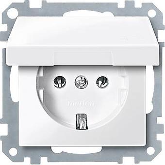 Merten Insert PG socket System M, 1-M, M-Smart, M-Plan, M-Creativ Polar white glossy MEG2311-0319