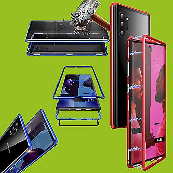 Pour Samsung Galaxy Note 10 N970F Magnet / Metal / Glass Case Bumper Red / Transparent Case New