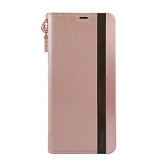 Samsung Galaxy S8+ Case Wooden/Aluminium Pink Folio Hard Shell