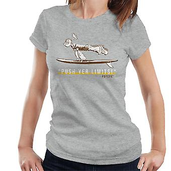 Popeye Push Yer Limits Surf Women's T-Shirt