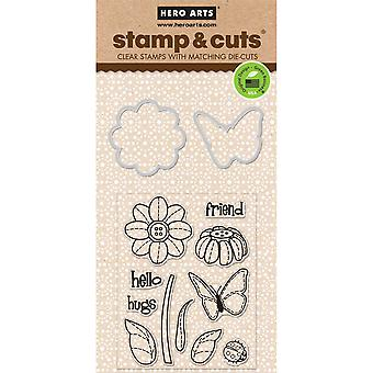 Hero Arts Stamp & Cuts-Butterfly & Flower HA-DC147