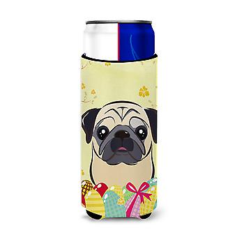 Fawn Pug Easter Egg Hunt Michelob Ultra Koozies for slim cans BB1944MUK