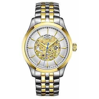 Rotary Mens Two Tone Strap Gold Plated Case GB05033/06 Watch