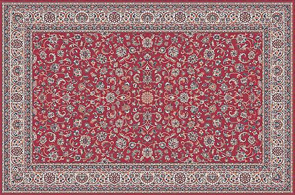 Farsistan Red 5604-677 Deep red ground with ivory border Rectangle Rugs Traditional Rugs