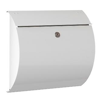 Max Knobloch letterbox Honolulu white (RAL 9010) 10 litre wall letter box