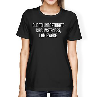Unfortunate Circumstances Women's Black Shirts Typographic Tee