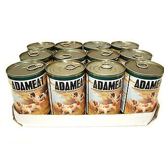 Adameat Meat Loaf i Jelly kylling 400g (pakke med 12)