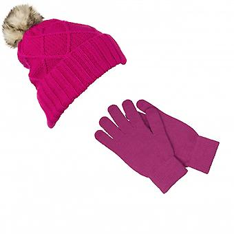 KITSOUND Headphone Beanie Kit incl mitten Pink
