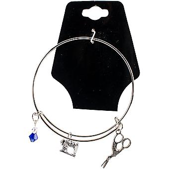 Charming Accents Adjustable Charm Bangle 7.5