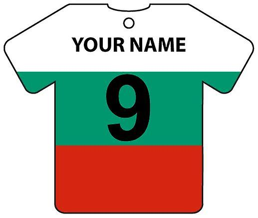 Personalised Bulgaria Flag Jersey Car Air Freshener