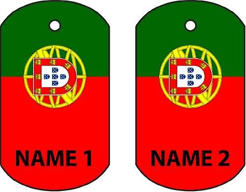 Personalised Portugal Dog Tag Car Air Freshener