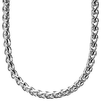 Iced out bling BASKET chain - 6.5mm silver