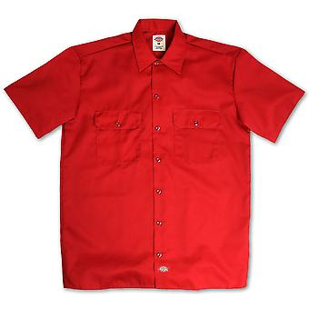 Dickies 1574 Short Sleeve Work Shirt English Red