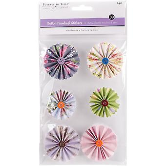 MultiCraft Handmade 3D Button Pinwheel Stickers-Intricate SS800-A