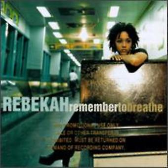 Rebekka - Husk at indånde [CD] USA import