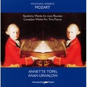 Mozart / Toepel / Urwalow - Mozart / Toepel / Urwalow: samlede værker for to klaverer [CD] USA import