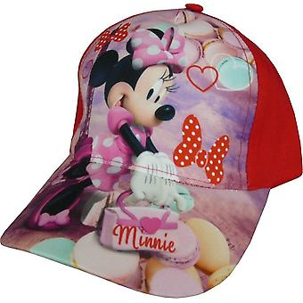 Girls Disney Minnie Mouse Baseball Cap with Adjustable Back