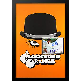 Clockwork Orange - Movie Poster with Signed Photo by Malcolm McDonnell