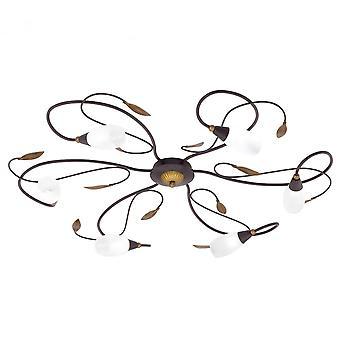 Eglo Gerbera 1 6 Light Modern Flush Ceiling Light Antique Brown/