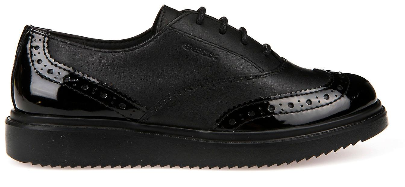 École de dentelle de Thymar de filles de Geox chaussures noir verni