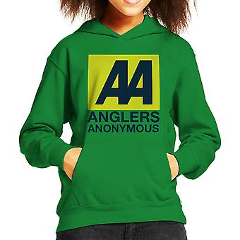 Anglers Anonymous AA Logo Fishing Kid's Hooded Sweatshirt