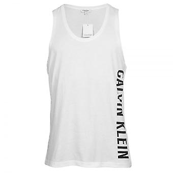 Calvin Klein Intense Power Swimwear Tank Top, White, Medium