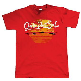 Vectorbomb, Charlie Don't Surf Mens Funny T Shirt (S to 5XL)