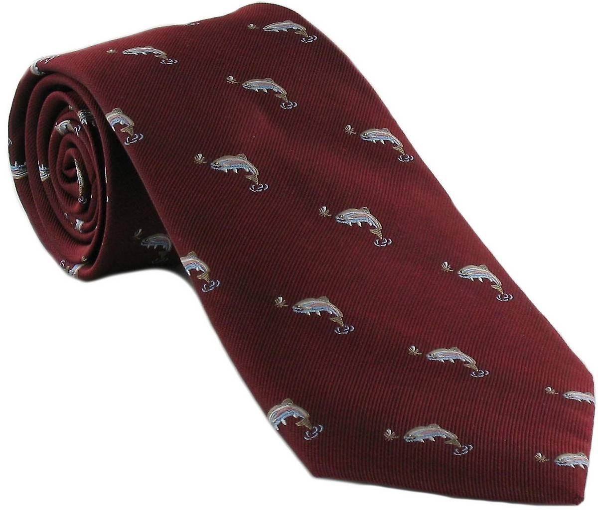 Michelsons of London Fish Silk Tie - Red