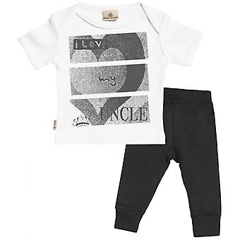 Spoilt Rotten I Love My Uncle Baby T-Shirt & Baby Jersey Trousers Outfit Set