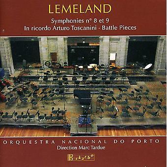 Aubert Lemeland - Lemeland: Symfonier ændringsforslag 8 og 9; i Ricordo Arturo Toscanini [CD] USA Importer