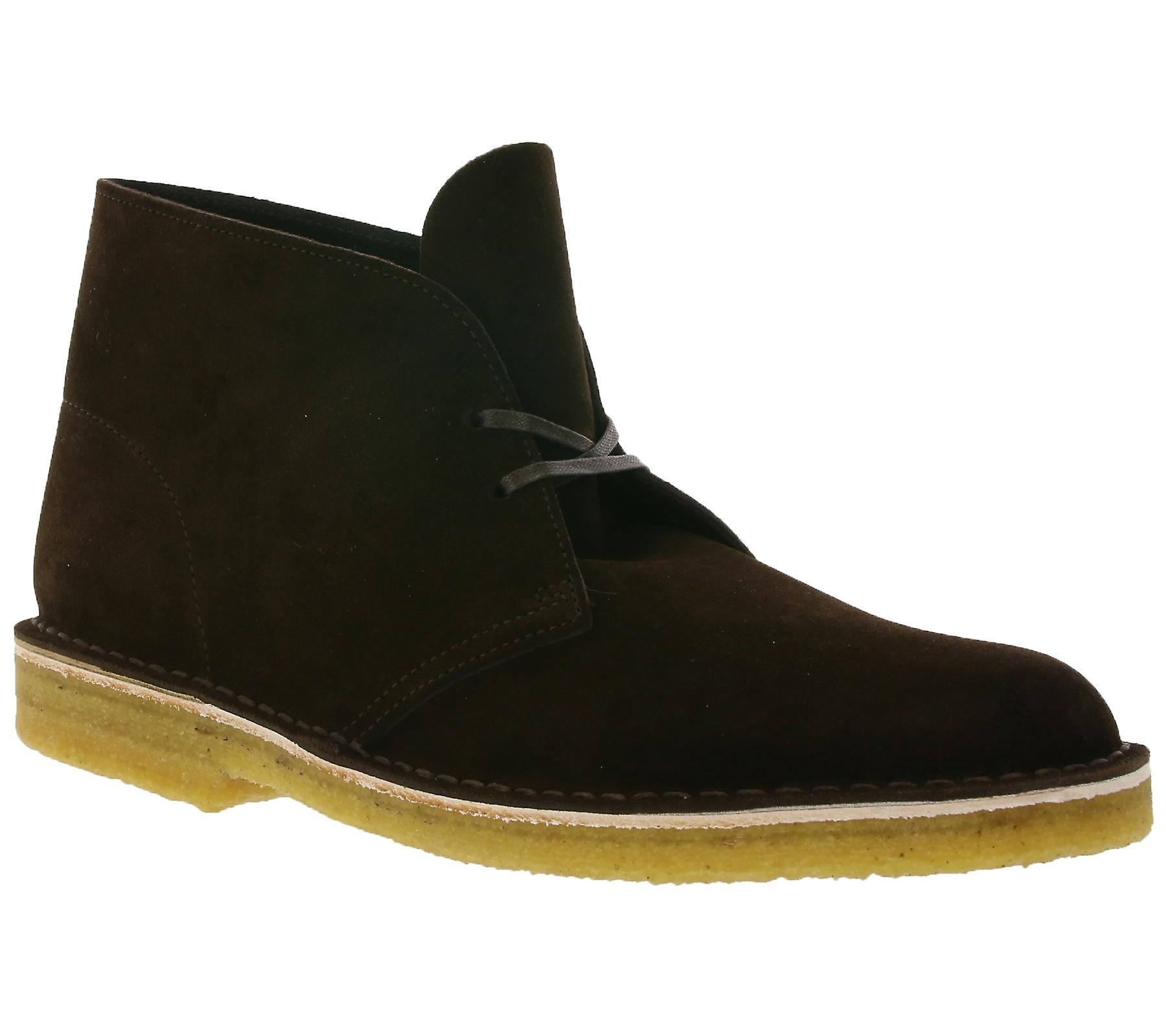 Brown 26128538 genuine Clarks leather men's desert shoes boot 0xYxwTAqf