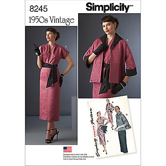 SIMPLICITY MISSES SPORTSWEAR-6-8-10-12-14 US8245H5