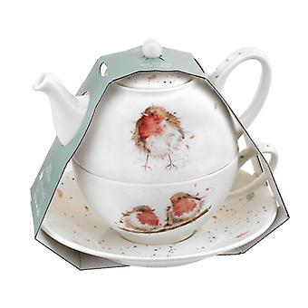 Royal Worcester Wrendale Tea for One, Robin