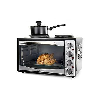 Andrew James 33 Litre Mini Oven And Grill With Double Hob