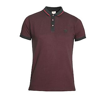 883 POLICE Fort Polo Shirt Samba Red