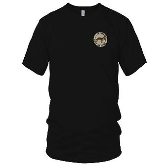USAF Air Police Sqdn - Sentry Dog Section - Vietnam War Embroidered Patch - Ladies T Shirt