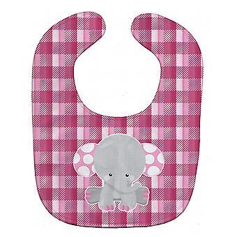 Carolines tesoros BB6952BIB elefante rosa guinga babero