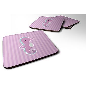 Carolines Treasures  BB7119FC Set of 4 Seahorse Foam Coasters Set of 4