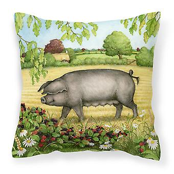 Zarza de cerdos en las bayas decorativo de la almohadilla de la lona