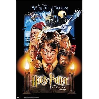 Harry Potter og trollmenn stein plakat plakatutskrift